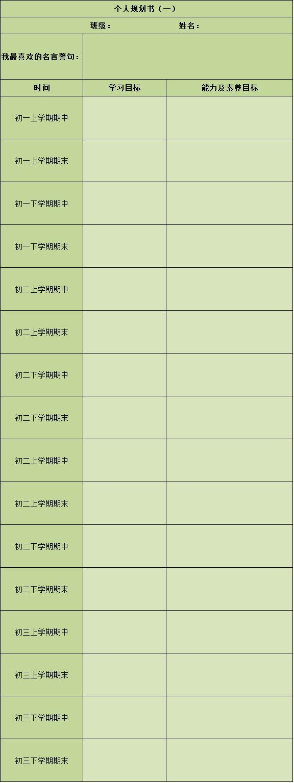 中学生生涯规划书-生涯规划-51选校网.png