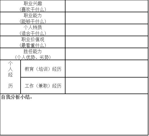 自我分析-生涯规划-51选校网.png